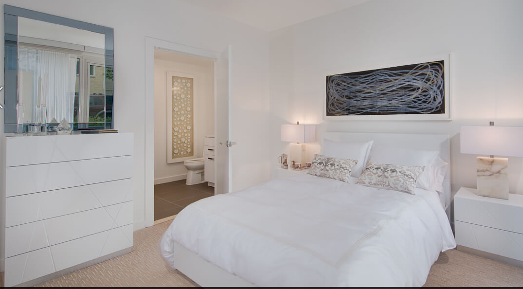 Image from virtual tour of apartments at 5333 Connecticut Avenue showing Lyn Horton drawing