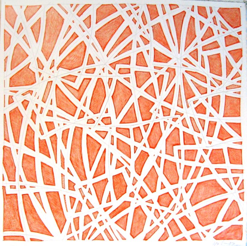 11 x 11 orange ink, 07