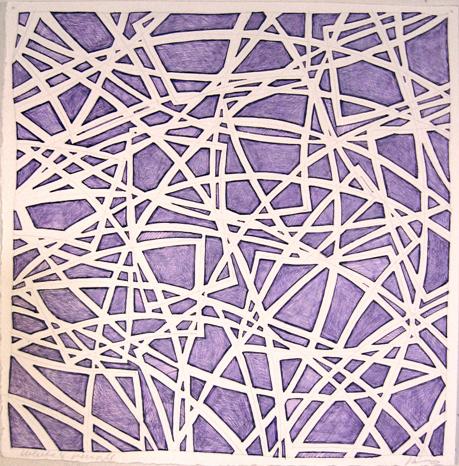 11 x 11 purple ink & white col pencil, 07
