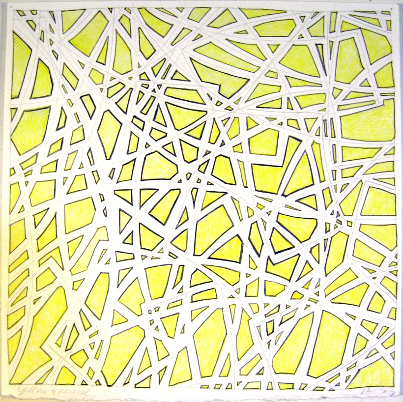 11 x 11 yellow ink & pencil, 07